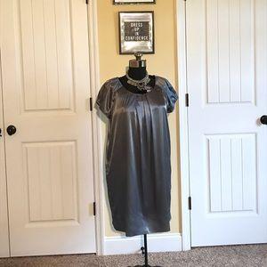 New York & Company Satin Look Shift Dress